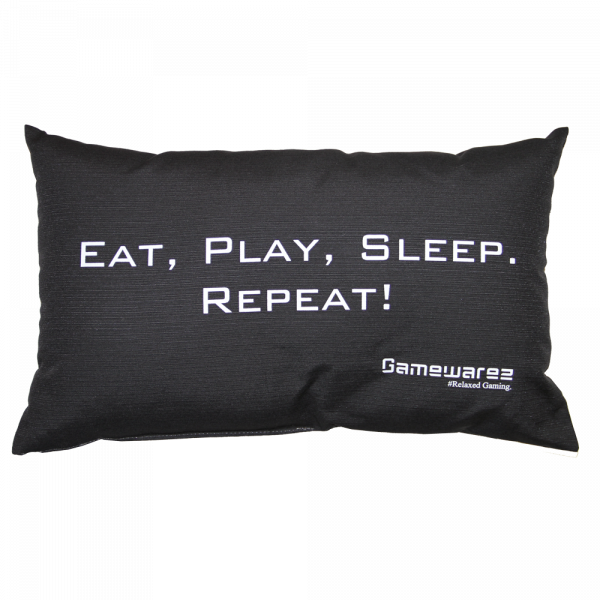 "Gaming Pillow ""EAT, PLAY, SLEEP. REPEAT!"""