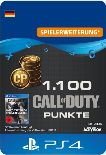 Playstation Call of Duty MW 1100 Points Code