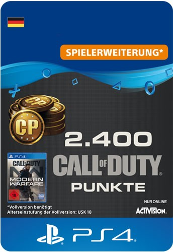 Playstation Call of Duty MW 2400 Points Code