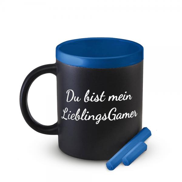 Tasse Mein LieblingsGamer (Blau), beschreibbar