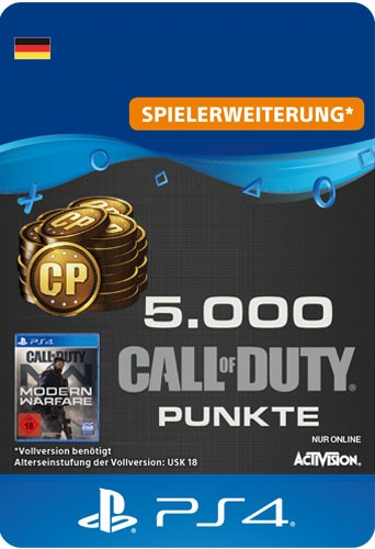 Playstation Call of Duty MW 5000 Points Code