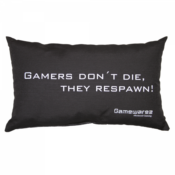 "Gaming Pillow ""GAMERS DON'T DIE, THEY RESPAWN!"""