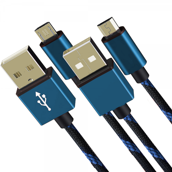 Set 2x High Speed USB Kabel, blau, 3m, PS4, XBOX
