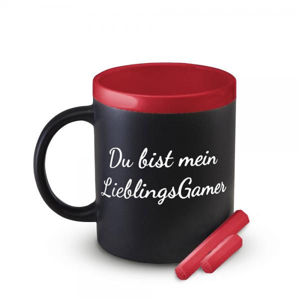 Tasse Mein LieblingsGamer (Rot), beschreibbar